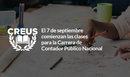 El 7 de septiembre comienzan las clases para la Carrera de Contador Público Nacional
