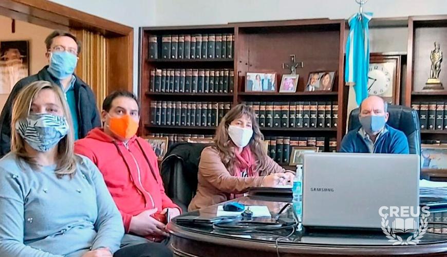 CREUS-UNS: Reunión con el Decano de la carrera de Contador Público Nacional en Coronel Suárez