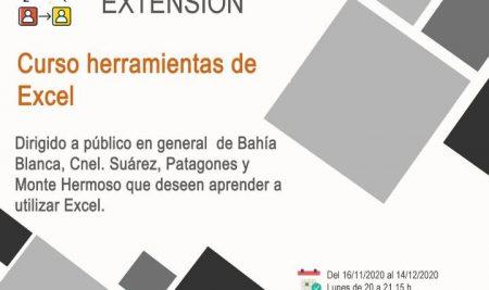 Universidad Nacional del Sur: Curso herramientas de Excel