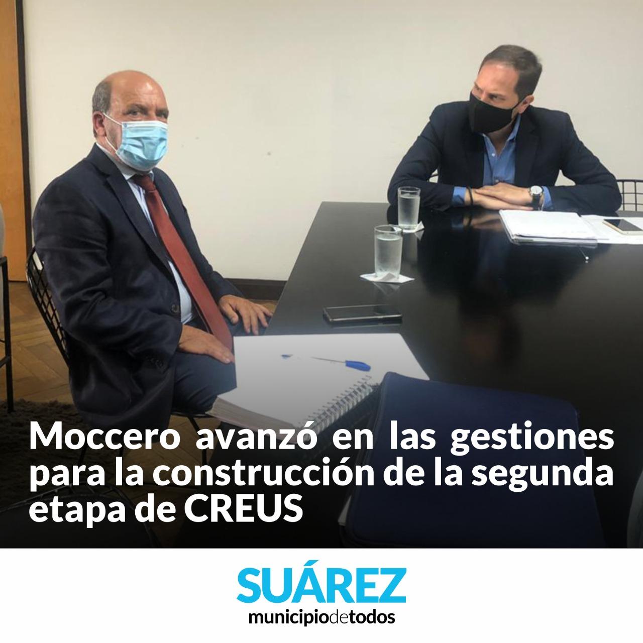 Gestionar es Hacer – Moccero avanzó en las gestiones para la construcción de la segunda etapa de CREUS